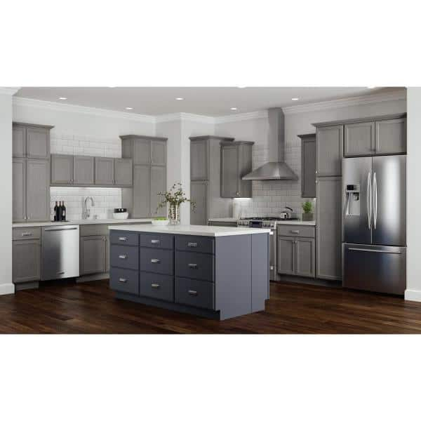 Hampton Bay Hampton Partially Assembled 36x34 5x24 In Corner Sink Base Kitchen Cabinet In Unfinished Beech Kcsb36 Uf The Home Depot