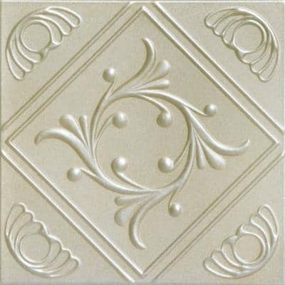 Diamond Wreath 1.6 ft. x 1.6 ft. Glue Up Foam Ceiling Tile in Onyx Gold
