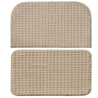Herald Square Ivory 2 ft. x 2 ft. 2-Piece Rug Set