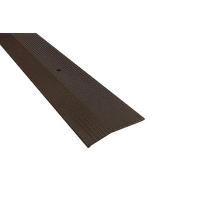 Forest Brown 2 in. x 36 in. Fluted Carpet Trim