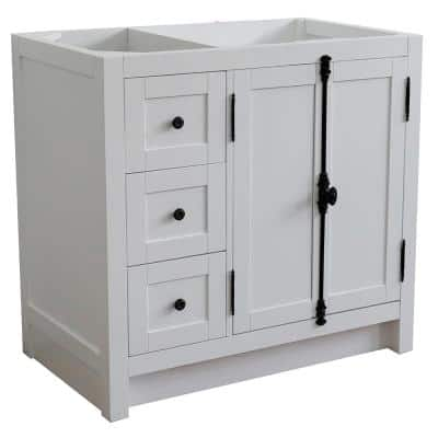 Plantation 36 in. W x 21.5 in. D x 34.5 in. H Bath Vanity Cabinet Only in Glacier Ash with Right Side Doors