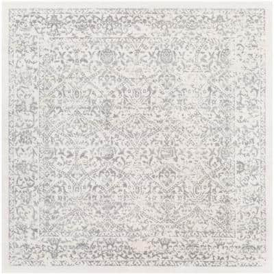 Saul White 7 ft. 10 in. x 7 ft. 10 in. Square Area Rug