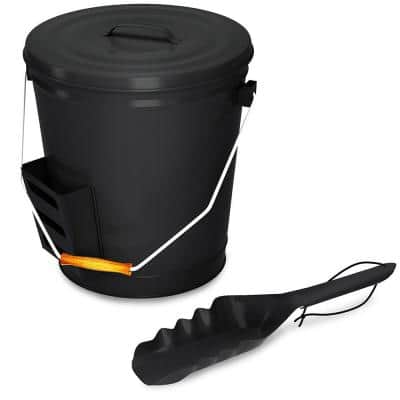 4.75 Gal. Ash Bucket with Lid and Shovel