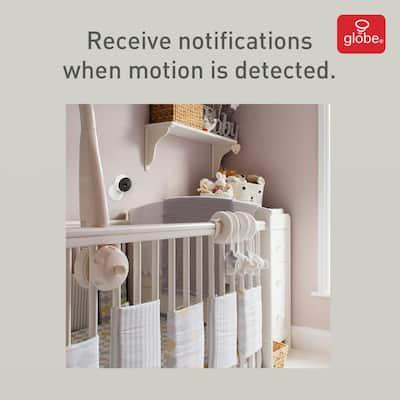 Wi-Fi Smart 720p White Indoor Security Surveillance Camera