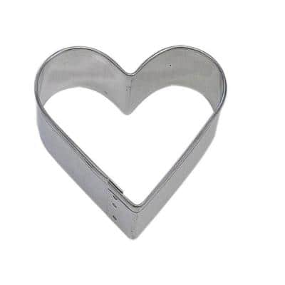 12-Piece 2 in. Heart Tinplated Steel Cookie Cutter & Cookie Recipe