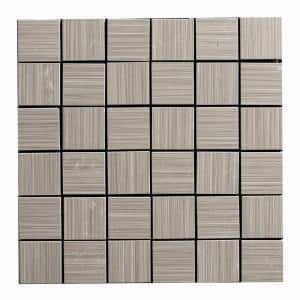 Italia Zen Gris 12 in. x 12 in. x 8 mm Porcelain Mosaic Tile