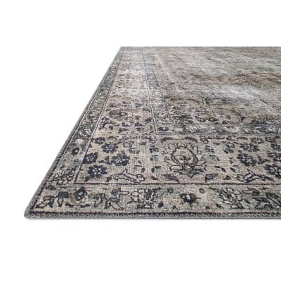 Layla Taupe/Stone 9 ft. x 12 ft. Traditional 100% Polyester Area Rug