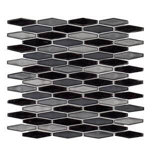 Jasper Gray 11.625 in. x 11.625 in. Hexagon Glass Mosaic Tile (0.938 sq. ft./Each)