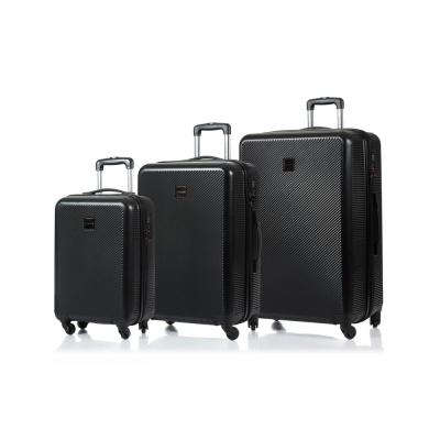 CHAMPS Iconic 28 in.,24 in., 20 in. Black Hardside Luggage Set with Spinner Wheels (3-Piece)