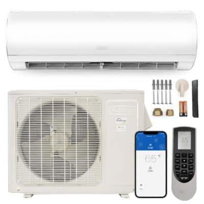 12000 BTU 1-Ton Wi-Fi Ductless Mini Split Air Conditioner with Heat Pump Variable Speed Inverter 230-Volt