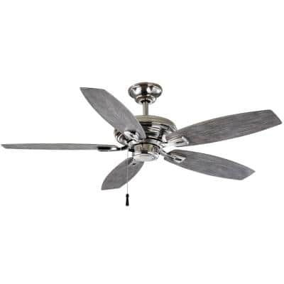 North Pond 52 in. Indoor/Outdoor Polished Nickel Ceiling Fan
