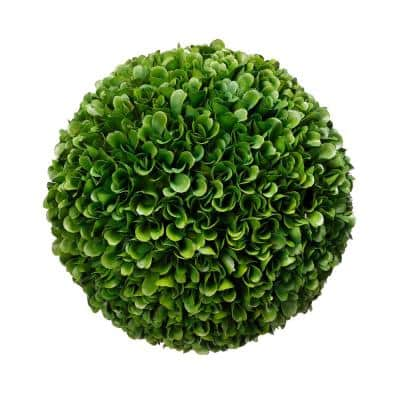 8.5 in. Faux Green Boxwood Topiary Ball