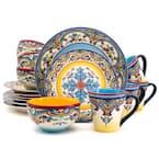 Zanzibar 16-Piece Patterned Multicolor/Spanish Floral Design Ceramic (Service for 4)