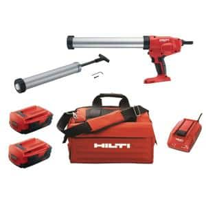 22-Volt Lithium-Ion CD 4 Cordless Dispenser Kit with 20 Oz. Barrel, 2.6 Battery Pack, Charger and Bag