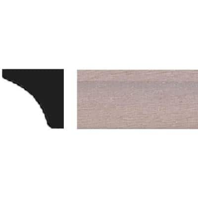 3/8 in. x 3/8 in. x 48 in. Tinytrim Basswood Cove Moulding