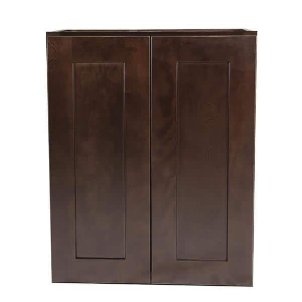 Design House Brookings Plywood Ready To Assemble Shaker 24x12x30 In 2 Door Wall Kitchen Cabinet In Espresso 562314 The Home Depot