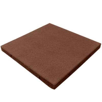 Eco-Safety 2.5 in. x 19.5 in. W x 19.5 in. L Terracotta Rubber Interlocking Flooring Tiles(105.6 sq. ft.)(40-Pack)(1-PF)