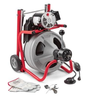 115-Volt K-400AF AUTOFEED Drain Cleaning Drum Machine with C-32 3/8 in. Integral Wound Cable and Tool Set
