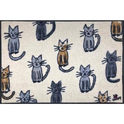 Whimsy Lots 'O Cats 20 in. x 30 in. Nylon Doormat