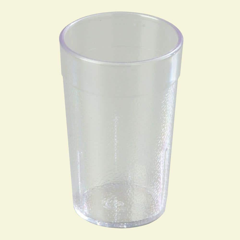 Carlisle 8 Oz Polycarbonate Stackable Tumbler In Clear Case Of 24 5108 207 The Home Depot