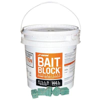 Bait Block Peanut Butter Flavor Anticoagulant Rodenticide for Mice and Rats (144-Blocks)