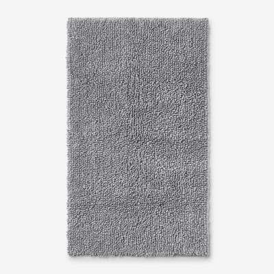 Company Cotton Chunky Loop Silver 21 in. x 34 in. Bath Rug
