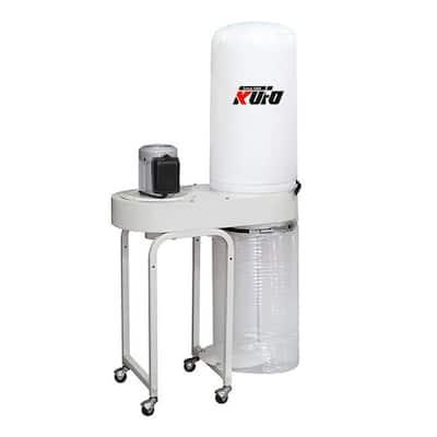 2 HP 1550 CFM 1 Phase 220-Volt Vertical Bag Dust Collector