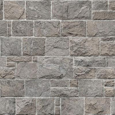 Grey Kennedy Stone Peel & Stick Wallpaper