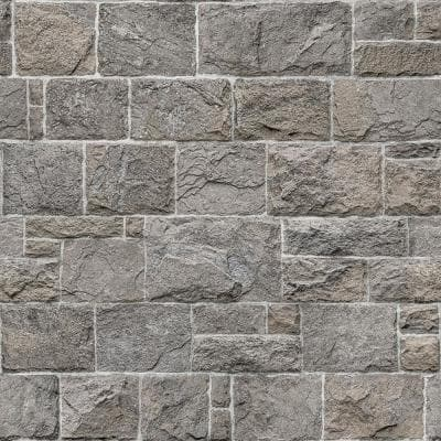 Grey Kennedy Stone Peel and Stick Wallpaper Sample
