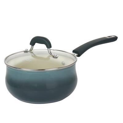 Corbett 3.1 Quart Nonstick Aluminum Blue Saucepan