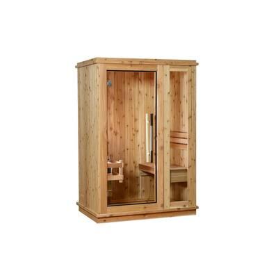 Logan Cedar 1-Person Electric Sauna