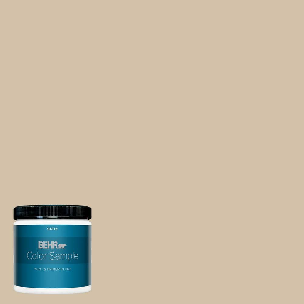 Behr Premium Plus 8 Oz Ppu7 08 Baja Satin Enamel Interior Paint And Primer In One Sample B370416 The Home Depot
