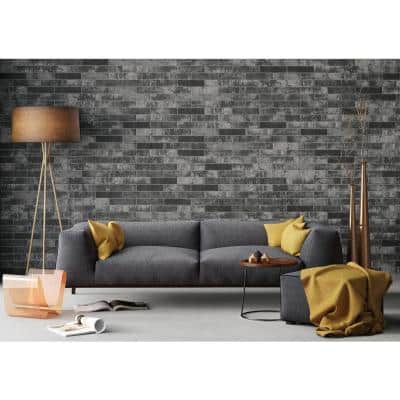 Capella Charcoal Brick 2-1/3 in. x 10 in. Matte Porcelain Floor and Wall Tile (5.20 sq. ft./Case)