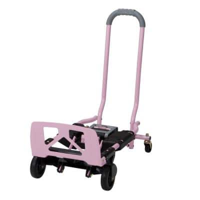 Shifter 300 lb. 2-In-1 Convertible Hand Truck and Cart in Pink