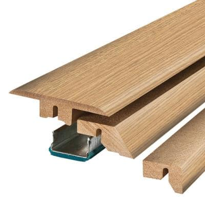 Sandy Cove Oak 0.75 in. Thick x 2.37 in. Wide x 78.75 in. Length Laminate 4-in-1 Molding
