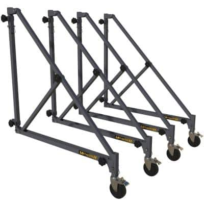 46 in. Steel Adjustable Outriggers with 4 Caster Wheels, Extra-Support for Baker Scaffold, 1000 lbs. Capacity (4-Pack)