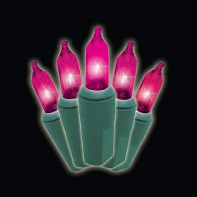 100-Light Designer Series Pink Mini Light Set (Set of 2)