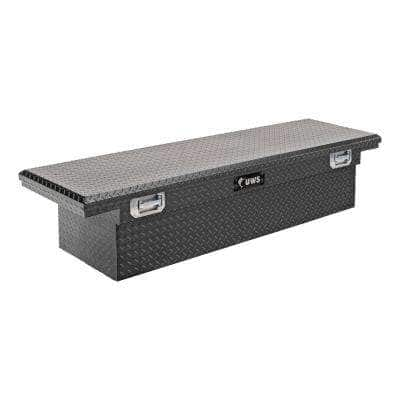 """Matte Black Aluminum 72"""" Crossover Tool Box with Pull Handles (Heavy Packaging)"""
