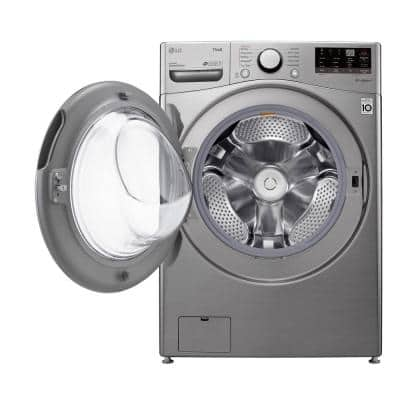 27 in. 4.5 cu. ft. Ultra Large Capacity Graphite Steel Front Load Washer with Steam and Wi-Fi Connectivity