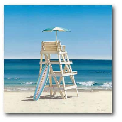 Lifeguard Stand Nature Gallery-Wrapped Canvas Wall Art 30 in. x 40 in.
