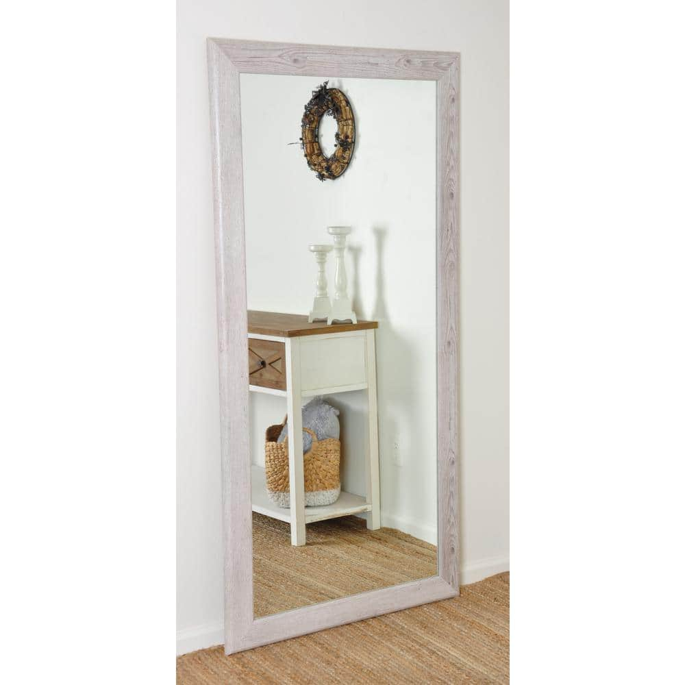 Brandtworks Oversized White Farmhouse Composite Hooks Farmhouse Rustic Mirror 66 In H X 32 5 In W Av63tall The Home Depot