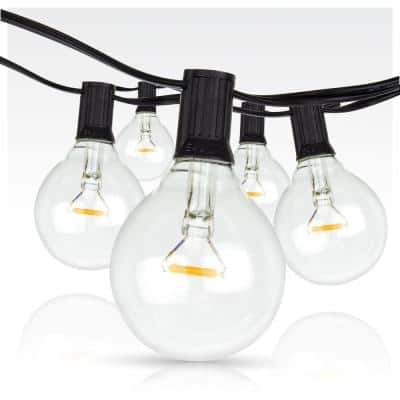 Outdoor /Indoor 25 ft. Plug-In Globe Bulb String Light with 26 Shatter-Resistant G50 1W LED Light Bulbs