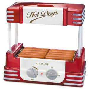 Retro Series Red Electric Hot Dog Roller and Bun Warmer