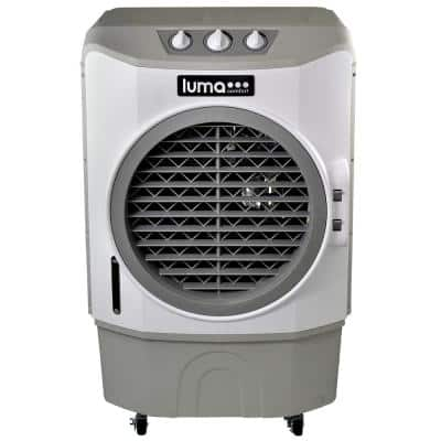 1650 CFM 3-Speed Commercial Evaporative Cooler Air Fan (Swamp Cooler) for 650 sq. ft. Indoor and Outdoor - White
