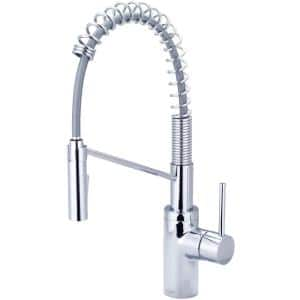 Motegi Single-Handle Pull-Down Sprayer Kitchen Faucet with Pre-Rinse in Polished Chrome
