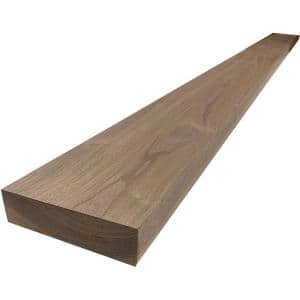 2 in. x 6 in. x 8 ft. Walnut S4S Board
