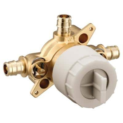 M-CORE 3-Series 1/2 in. 3 Port Shower Mixing Valve with Cold Expansion PEX Connections and Stops