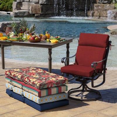 21 x 44 Ruby Leala Texture Outdoor Dining Chair Cushion