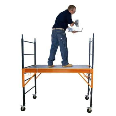 6 ft. x 6 ft. x 2.4 ft. Multi-Use Drywall Baker Scaffolding with 1000 lbs. Capacity and Anti-Slip Platform