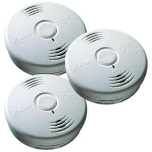10 Year Worry-Free Sealed Battery Smoke Detector with Photoelectric Sensor and Voice Alarm (3-Pack)